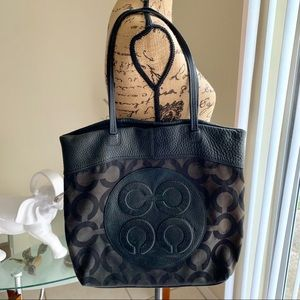 Coach Julia canvas leather tote